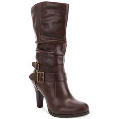 Style&co. Mickay Boots (19 CAD) ❤ liked on Polyvore featuring shoes, boots, ankle boots, high heel shoes, high heeled footwear, short boots, short high heel boots and zip boots