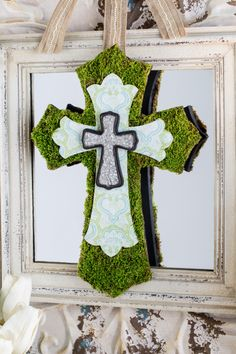 This faith-themed DIY decor makes a lovely addition for Easter.