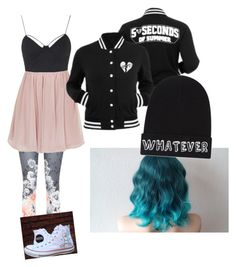 """""""5sos"""" by pierce-the-potatoes ❤ liked on Polyvore featuring Ted Baker, Topshop, Local Heroes and Converse"""