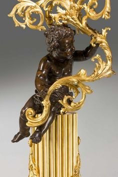 Pair of 19th Century Cold Cast Gilt Bronze Putti (Ref No. 645) - Windsor House Antiques
