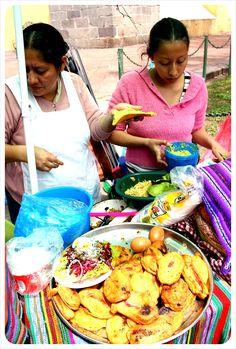 Guatemalan garnachas & chiles rellenos.