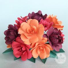Buque de flores de papel - Aprenda a fazer - Paper flower DIY tutorial