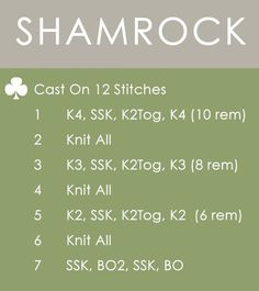 How to Knit a Shamrock Clover for St. Patrick's Day | Easy Free Free Pattern