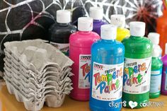 egg decorating party for toddlers | ... Decorating Party: Pumpkin Decorating Station: Paints and Egg Cartons