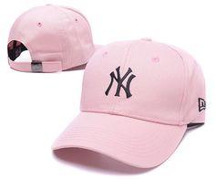 Men s   Women s New York Yankees New Era Basic Team Logo Embroidery  Adjustable Baseball Hat - Pink   Black 492acbd8a62