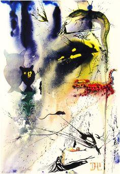 Ilustrações feitas por Salvador Dalí, em 1969, para uma versão de Alice no País das Maravilhas são digitalizadas.