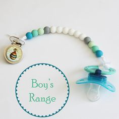 Boys Full Silicone Personalised Dummy Clip Car Baby Blue White Grey Christening