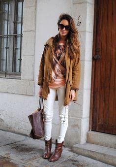 Looks con parkas marrón Zara (Todos) - Trendtation