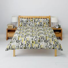 Buy John Lewis Retro Print Duvet Cover and Pillowcase Set Online at johnlewis.com