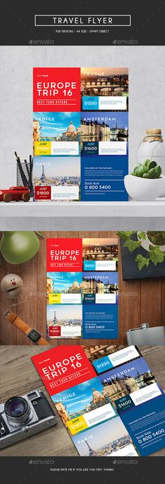 Travel Flyer Design - Holiday Event Flyer Template PSD. Download here: http://graphicriver.net/item/travel-flyer/16493543?s_rank=95&ref=yinkira