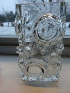 Kul 60-70talls vase fra Josef Schott, Smålandshyttan h=18 cm - Selges av nagreb fra Stokke på QXL.no