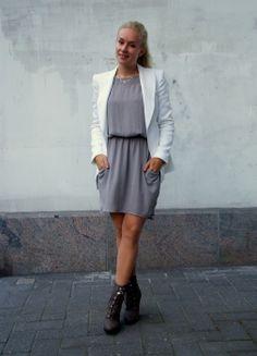 Grey dress | Vivi Norokorpi
