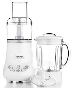 Cuisinart Blender & Food Processor. Got the blender... Maybe a new processor? Just a medium size one though, don't have space for a big appliance