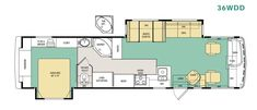 Image result for floorplan for a 2001 monaco lapalma 36wdd