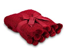 Bobbles Throw- Red #cosy for #Christmas