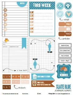 Slate Blue Journaling Cards – Free Printable Download | [ One Velvet Morning ]