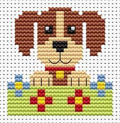 Sew Simple Dog cross stitch kit from Fat Cat Cross Stitch Finished size approx 6.4cm x 6.7cm. Kit contains 11ct white aida fabric, stranded embroidery cotton, needle, colour chart and instructions. A brand new kit will be sent directly to you by Fat Cat Cross Stitch - usually within 2-4 working days © Fat Cat Cross Stitch