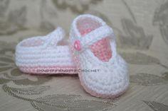 Jane Crochet Bootie Patterns Free | ... Knotty Crochet: Pretty & Plain little Mary Jane FREE crochet pattern