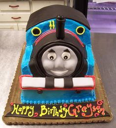 Thomas the Train 3D cake, front view!