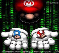 Dragonarte 2013 - Mario Matrix mash-up Super Mario Bros, Super Mario World, Super Nintendo, Super Mario Tattoo, Super Mario Wallpaper, Gamers Anime, Mario Brothers, Amazing Drawings, Donkey Kong