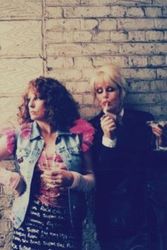 Ab Fab - One of the greatest shows ever! You know this is how I picture is in our Edina Monsoon, Patsy And Edina, Patsy Stone, Jennifer Saunders, Joanna Lumley, Ab Fab, British Comedy, Comedy Show, Absolutely Fabulous