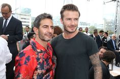Marc Jacobs and David Beckham at the Louis Vuitton Men's Spring/Summer 2014 Fashion Show. ©Louis Vuitton / Bertrand Rindoff