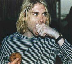 Kurt Cobain and cookies, what a fantastic combo