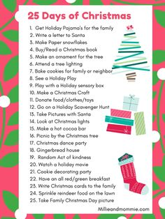 Christmas To Do List, Christmas Presents For Girls, 25 Days Of Christmas, Christmas Games, Christmas Books, Christmas Countdown, Family Christmas, Winter Christmas, Holiday Fun