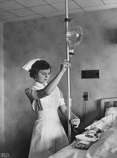 Vintage nurses....yep - mixed our own IV solutions, tubing was a red rubber tubing with a Hoffman clamp to control the rate.....ahh, the good old days?