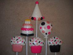 1 chocolate sprinkle cupcake molded favor favors lollipop lollipops   sapphirechocolates - Edibles on ArtFire