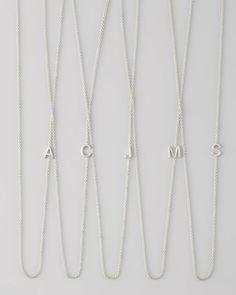 Maya Brenner Designs - 14k White Gold Mini Letter Necklace