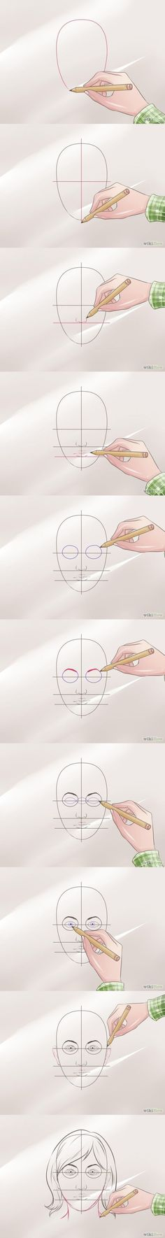 How to draw a face Step by step tutorial Wikihow #draw #face #drawing #how to by olga
