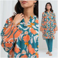 Pakistani Dresses Casual, Pakistani Dress Design, Stylish Dresses For Girls, Girls Dresses, Khadi Kurta, Kurti, Eastern Dresses, Lawn Suits, Blouse Dress