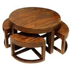 Round table with 4 stools