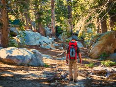 Hike San Jacinto State Park at the top of the Palm Springs Aerial Tramway in Palm Springs.