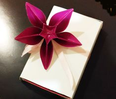 Awesome decoration for gifts - Origami flower Carambola Carmen - Great ideas for gifts