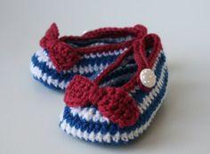 Free Crocheted Baby Booties Pattern - Baby Nursery Themes and Grandma I love.
