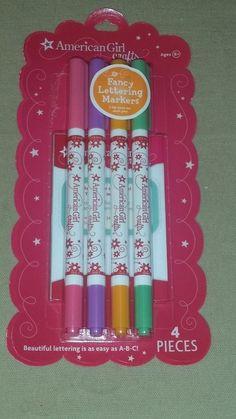EK Success AMERICAN GIRL CRAFTS Fancy Lettering Markers - 4pc #eksuccess