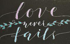 Love Never Fails Chalk Art  Digital Art by PapersAndPastels, ₱200.00