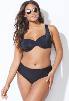 8c3a2fb015f Buy Socialite Black Underwire Bikini at SwimSuitsForAll.com. Easy returns  and exchanges. Check