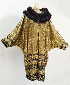 French sequined evening coat, c.1925