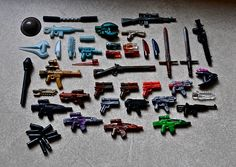 Lego weapons