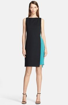 St. John Collection Two-Tone Double Faced Milano Knit Fitted Dress available at #Nordstrom