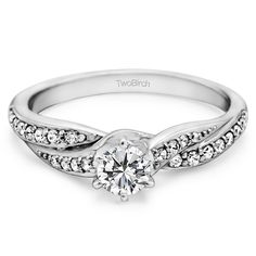 Gold Promise Rings For Her With Cubic Zirconia By Twobirch