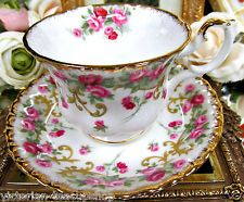 ROYAL ALBERT TEA CUP AND SAUCER SHERATON SERIES ROSEMARY PATTERN TEACUP ROSES