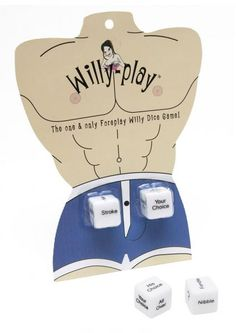 The one and only! Willy-Play Dice are foreplay dice solely for the willy. Roll both dice to find out where and how the willy will be…