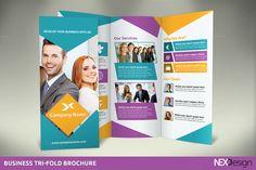 Business Tri-Fold Brochure by NEXDesign on @creativemarket