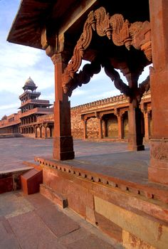 Fatehpur Sikri, one of the destinations on a number of our rail holidays to India http://www.greatrail.com/great-train-tours-holiday-destinations/india--the-orient/fatehpur-sikri.aspx