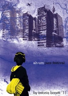 "Antonia Bonetti @ Ah-um jazz fest poster contest - theme: Miles Davis ""Kind of blue"" by Antonia 'T13' Bonetti, via Flickr"