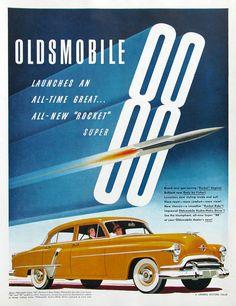 1951 Oldsmobile Super 88 ad   #RetroReveries